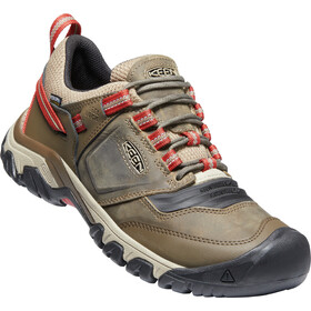 Keen Ridge Flex WP Shoes Men, timberwolf/ketchup